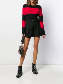 Red Valentino - RED(V) high-rise pleated shorts RFB96WBP955388030000