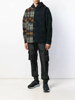 Represent - boxy checked-panelled jacket 69695533655000000000