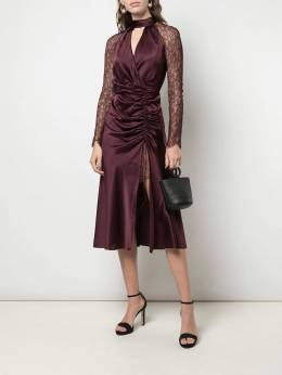 Jonathan Simkhai - ruched lace-sleeves dress 9609A955559690000000