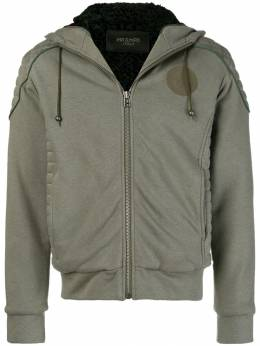 Mr&Mrs Italy - patched quilted hoodie 86E93655693000000000