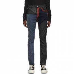 Rick Owens DRKSHDW Blue and Red Detroit Cut Jeans 192126M18600301GB