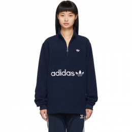 Adidas Originals Navy Logo Fleece Pullover 192751F09701803GB