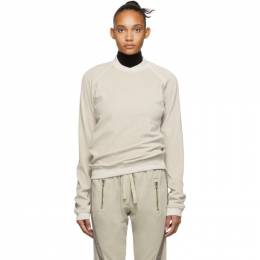 Haider Ackermann Off-White Velour Freeman Sweatshirt 192542F09800305GB
