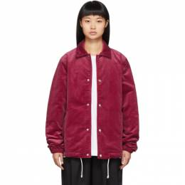 Comme Des Garcons Shirt Red Corduroy Jacket 192270F06300603GB