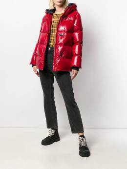 Fay - clasp fastened puffer coat 36395006RBN955050330