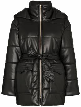 Nanushka - Lenox hooded vegan leather puffer jacket 66669939939500000000