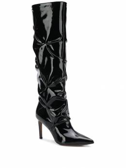 L'Autre Chose - ruched patent leather boots 99085WP9033955536900