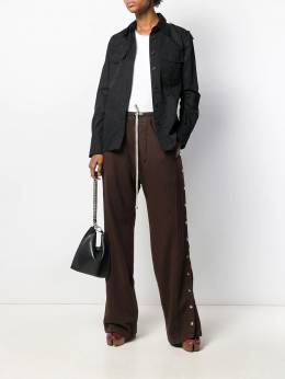 Rick Owens DRKSHDW - button-up wide leg trousers 9F6330F9553933900000