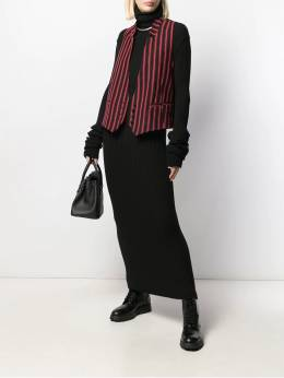 Ann Demeulemeester - striped sleeveless blazer 09950P96895533596000