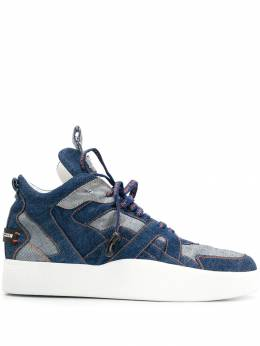 Philipp Plein - logo lace high top sneakers SMSC9966PDE665N95500