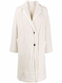 3.1 Phillip Lim - single-breasted textured coat 93033HBK955393690000