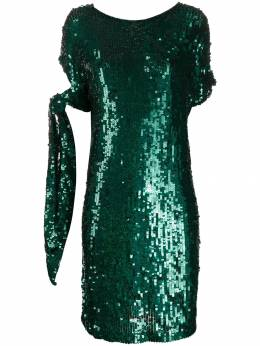 P.A.R.O.S.H. - sequined tied-sleeve dress 68899553539800000000