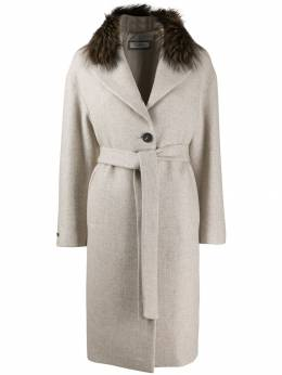 Peserico - belted single-breasted coat 666A66A0960A95536605