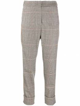 Peserico - checked print trousers 50366539955068630000