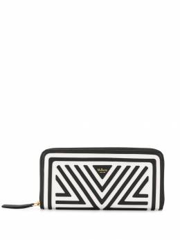 Mulberry - logo print contrast trim wallet 933653A5669593565500