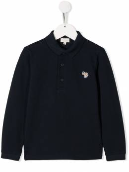 Paul Smith Junior - Piqué long sleeved polo shirt 95505909553330900000