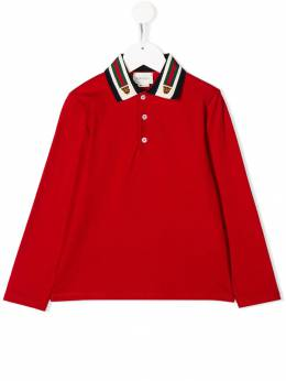 Gucci Kids - Web stripe detail polo shirt 859XJBEP955595950000