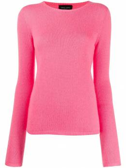 Roberto Collina - cashmere ribbed neck jumper 66995508909000000000