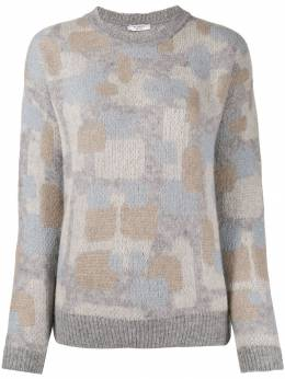 Peserico - abstract-print jumper 003F659683D955366360