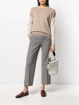 Peserico - cropped check trousers 33865959553663300000