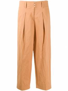 Forte Forte - satin button wide leg trousers 3MYPANTS955598550000