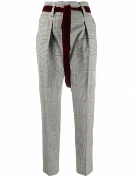 Pt01 - high waisted checked trousers XZ66STDTG59955569860