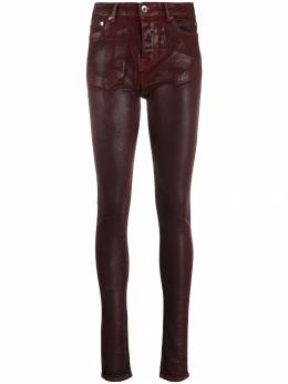 Rick Owens DRKSHDW - varnished fitted trousers 9F6396SLQ95539396000