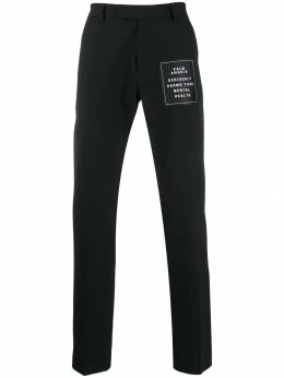 Palm Angels - logo patch tailored trousers A650F996306039666955