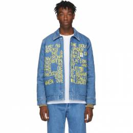 A.P.C. Indigo Brain Dead Edition Denim Imhotep Jacket 192252M17700504GB