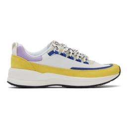 A.P.C. White and Yellow Brain Dead Edition Jay Sneakers 192252M23700303GB