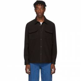 A.P.C. Brown Wool Heat Over Shirt 192252M19201202GB