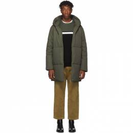 A.P.C. Green Tech CTN Parka Coat 192252M17601101GB