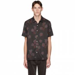 Ps by Paul Smith Black Floral Casual-Fit Shirt 192422M19201605GB