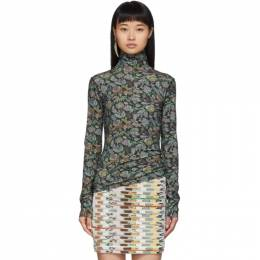 See By Chloe Green Winter Floral Turtleneck 192373F09900302GB