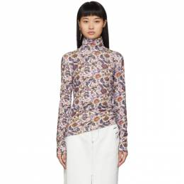 See By Chloe Multicolor Winter Floral Turtleneck 192373F09900403GB