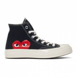 Comme Des Garcons Play Black Converse Edition Half Heart Chuck 70 High Sneakers 192246M23600102GB