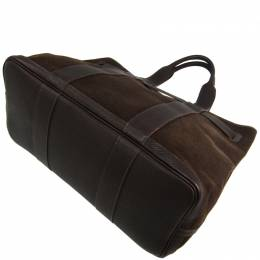 Hermes Brown Canvas And Leather Petite Ceinture MM Bag 228590