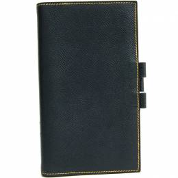 Hermes Navy/Yellow Leather Agenda Planner Cover 228575