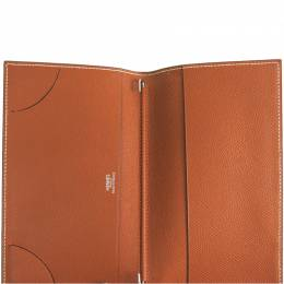 Hermes Brown Leather Agenda Planner Cover 228561