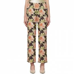 Paco Rabanne Multicolor Satin Roses Trousers 192605F08700102GB