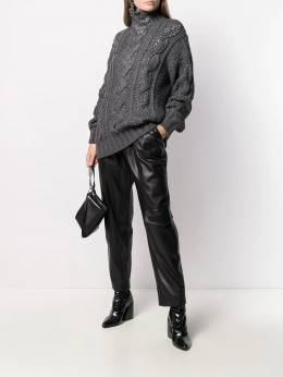Ermanno Scervino - roll neck cable-knit jumper 5M396CTHSM9559585900