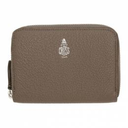 Mark Cross Taupe Small Zip Wallet 192186F04000101GB