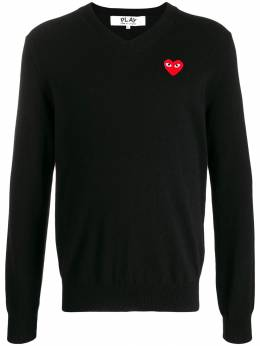 Comme Des Garçons Play - logo embroidered sweater 66095663399000000000
