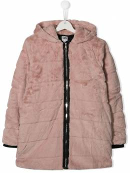 Karl Lagerfeld Kids - TEEN textured furry coat 63395586633000000000