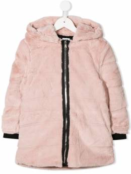 Karl Lagerfeld Kids - textured furry coat 63395586636000000000