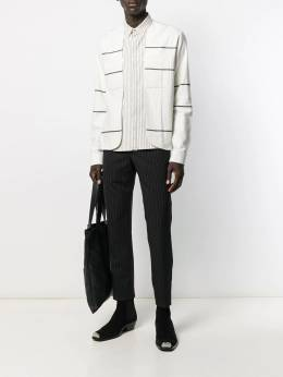 Haider Ackermann - double layer striped shirt 36609359566356500000