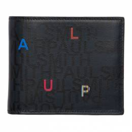 Paul Smith Navy and Black Letters Wallet 192260M16402301GB
